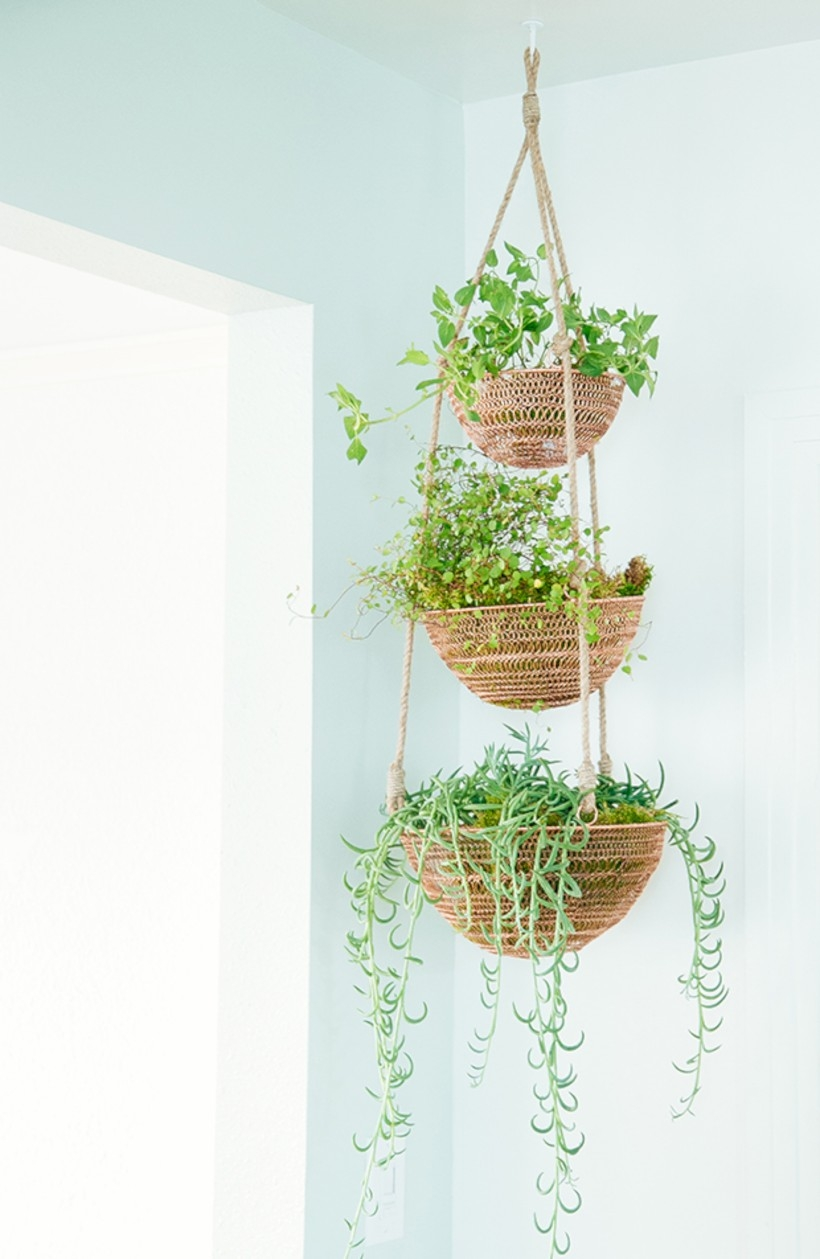 41 Indoor Hanging Planters You Can Make Yourself - GODIYGO.COM on Hanging Plant Pots Indoor  id=66610