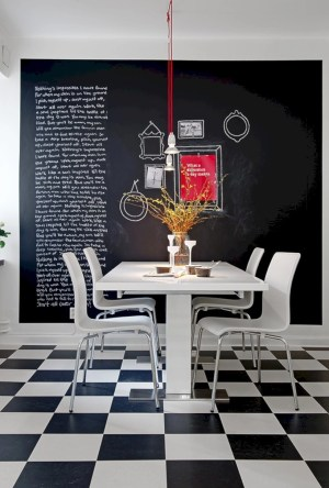 Inspiring ways to use a chalkboard paint on a kitchen 06