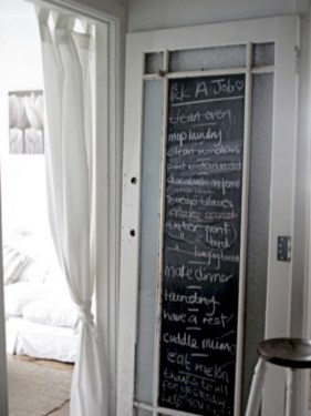 Inspiring ways to use a chalkboard paint on a kitchen 15