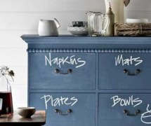 Inspiring ways to use a chalkboard paint on a kitchen 19