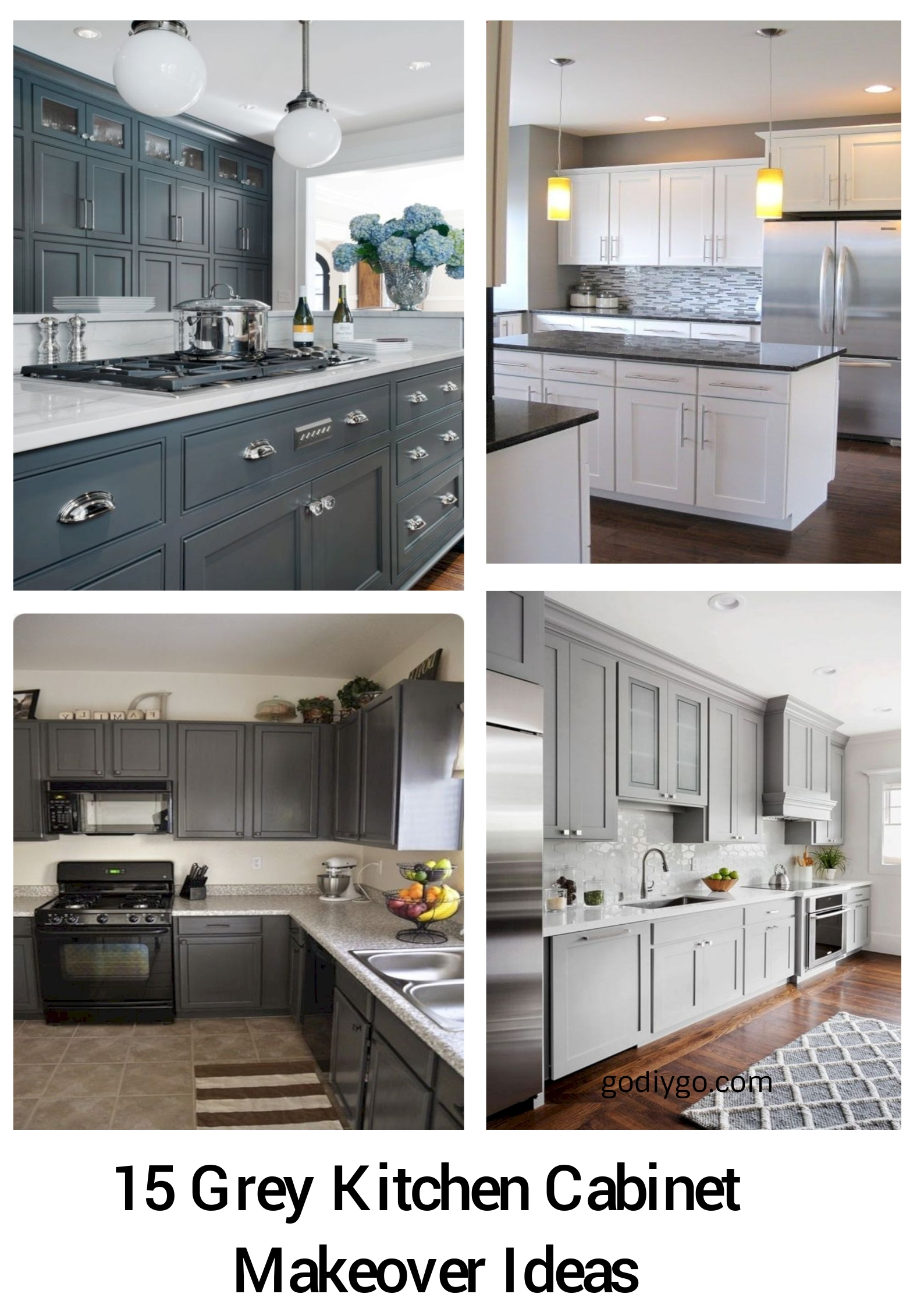 15 Grey Kitchen Cabinet Makeover Ideas - GODIYGO.COM Ideas For Kitchen Cabinet Makeover on ideas for fireplace makeovers, ideas for living room makeovers, ideas for kitchen countertops, ideas for bedroom makeovers, small galley kitchen makeovers, ideas small kitchen makeovers before and after, ideas for lamp makeovers, kitchen counter makeovers, ideas for mirror makeovers,