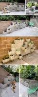 Ways to decorate your garden using cinder blocks 10