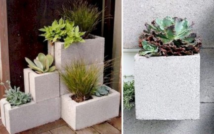 Ways to decorate your garden using cinder blocks 35