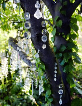 Beautiful beaded wind chime to add sparkle to the garden 04