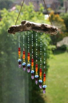 Beautiful beaded wind chime to add sparkle to the garden 05