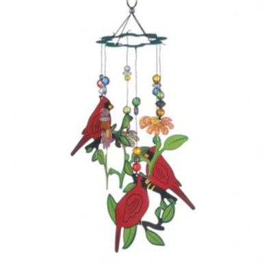 Beautiful beaded wind chime to add sparkle to the garden 08