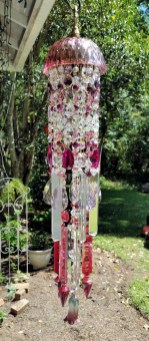 Beautiful beaded wind chime to add sparkle to the garden 11