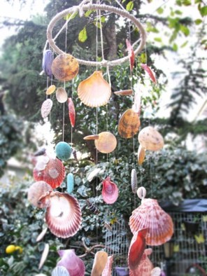 Beautiful beaded wind chime to add sparkle to the garden 16