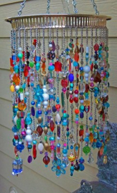 Beautiful beaded wind chime to add sparkle to the garden 17