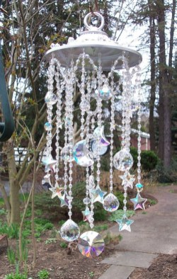 Beautiful beaded wind chime to add sparkle to the garden 25