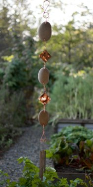 Beautiful beaded wind chime to add sparkle to the garden 39