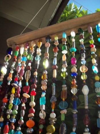 Beautiful beaded wind chime to add sparkle to the garden 44