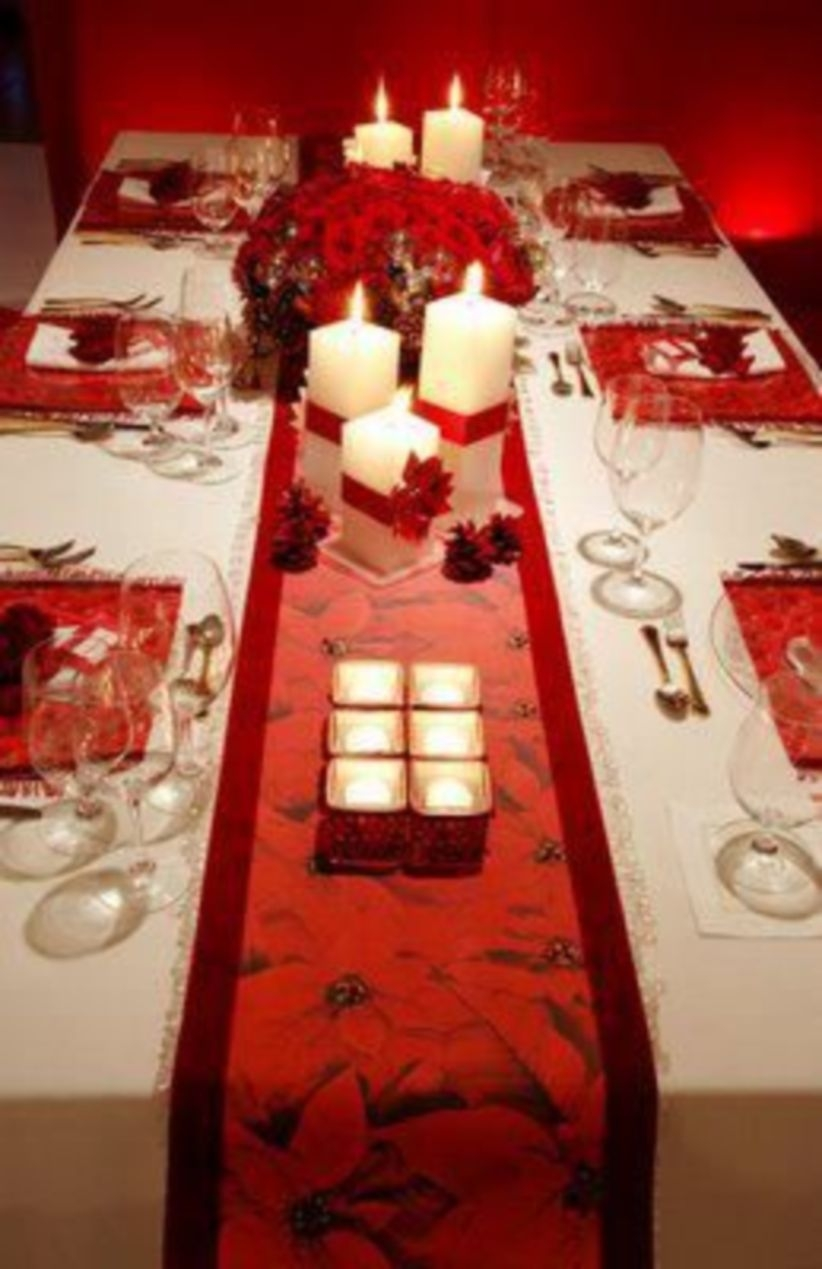 Beautiful tablecapes for christmas dinner.