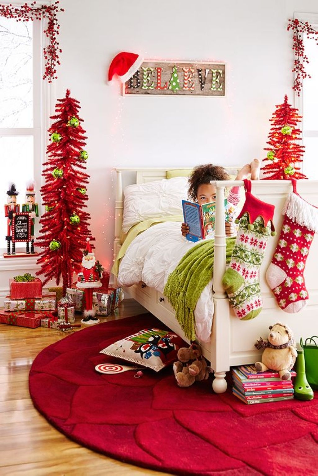 Bring a little christmas magic to the kids' rooms with christmas tree