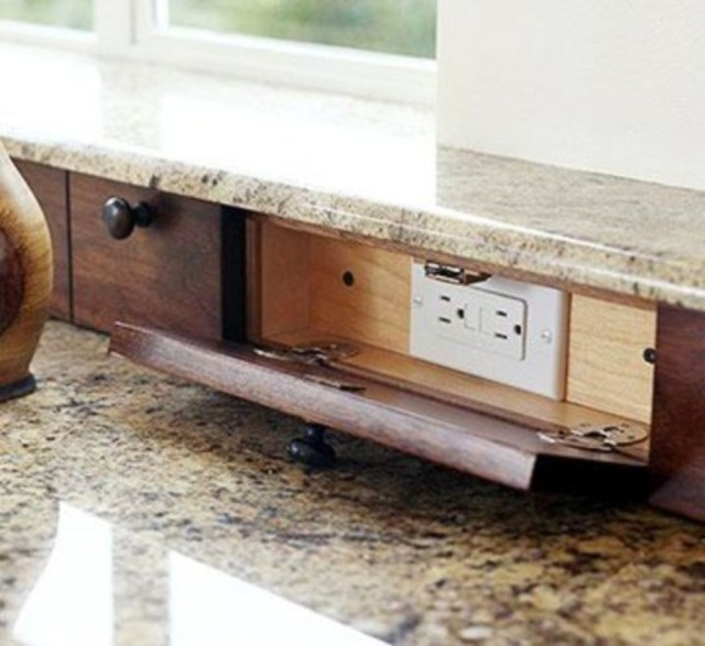 Clever storage solutions for your electrical outlets
