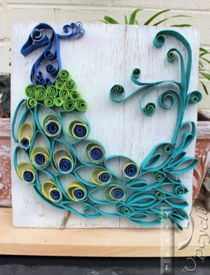 Diy paper roll wall art to beautify your home 30