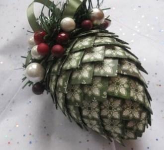 Diy ribbon ornament for christmas 42