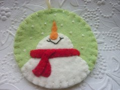 Diy snowman ornament for christmas 17