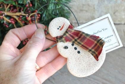 Diy snowman ornament for christmas 18
