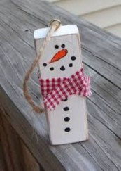Diy snowman ornament for christmas 22
