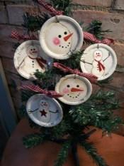 Diy snowman ornament for christmas 38