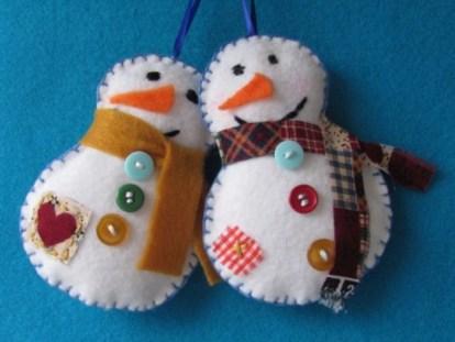 Diy snowman ornament for christmas 40
