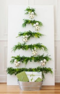 Diy wall christmas tree to save your space 02