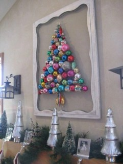Diy wall christmas tree to save your space 05