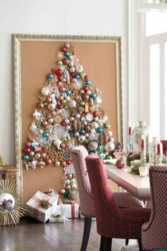 Diy wall christmas tree to save your space 10