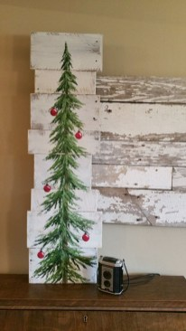 Diy wall christmas tree to save your space 13