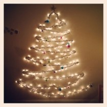 Diy wall christmas tree to save your space 24