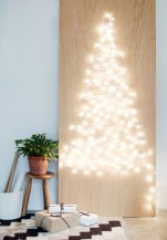 Diy wall christmas tree to save your space 30
