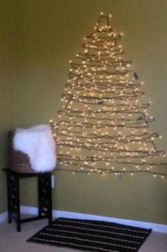 Diy wall christmas tree to save your space 33