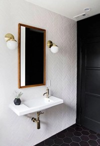 Elegant black herringbone tiles for your space 10