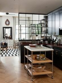 Elegant black herringbone tiles for your space 16