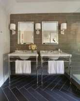 Elegant black herringbone tiles for your space 18