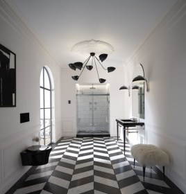 Elegant black herringbone tiles for your space 22