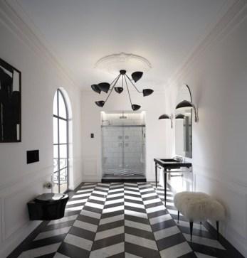 Elegant black herringbone tiles for your space 22