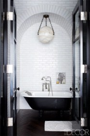 Elegant black herringbone tiles for your space 27