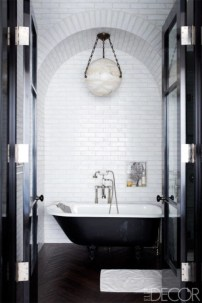 Elegant black herringbone tiles for your space 27