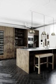 Elegant black herringbone tiles for your space 36