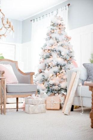 Elegant decorating ideas for white christmas 33