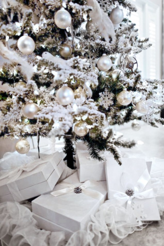 Elegant decorating ideas for white christmas 42