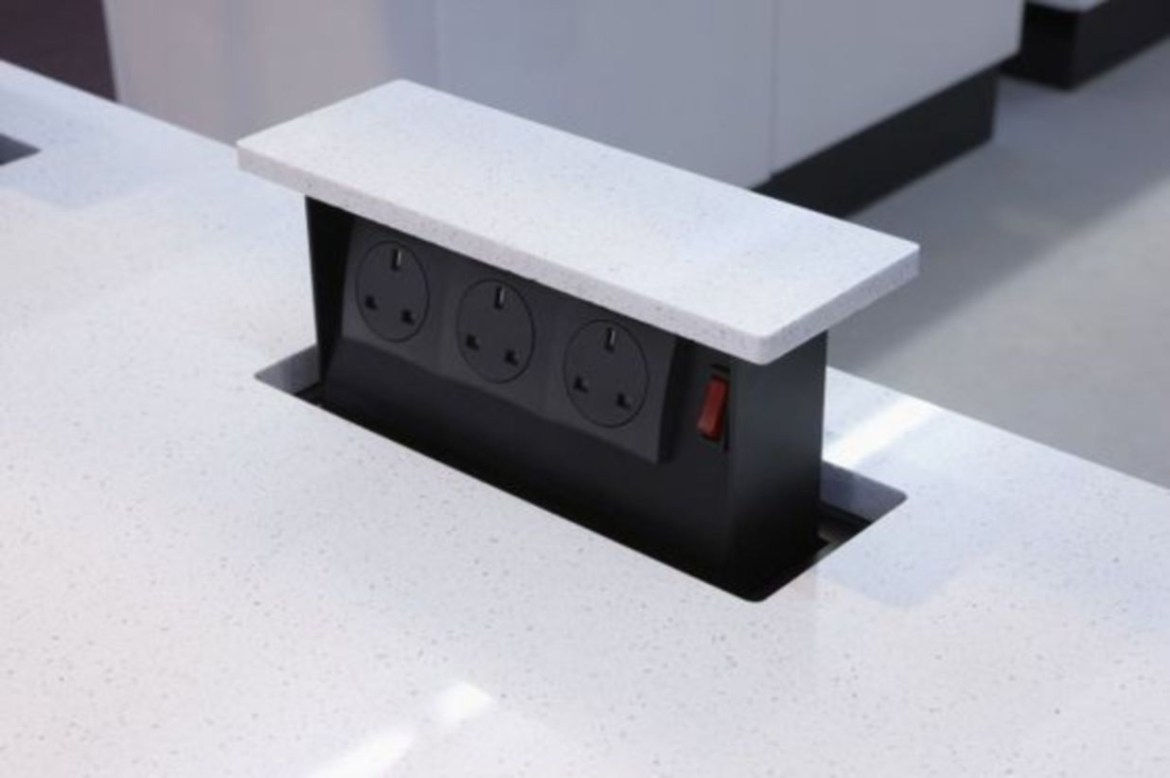 Hidden electrical outlets that pop up out of your countertops