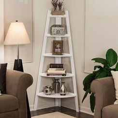 Ideas to decorate your corner space with unique corner shelf 04