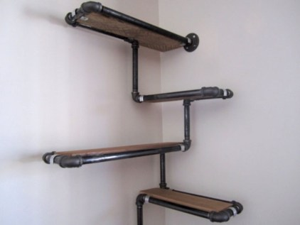 Ideas to decorate your corner space with unique corner shelf 22