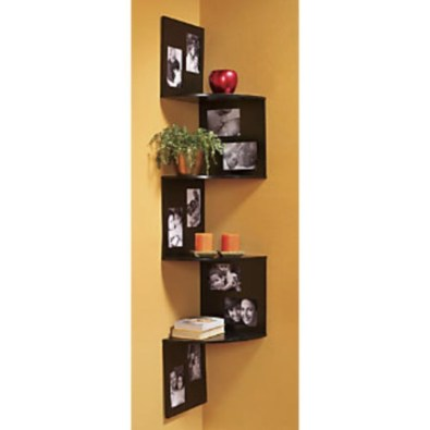 Ideas to decorate your corner space with unique corner shelf 31