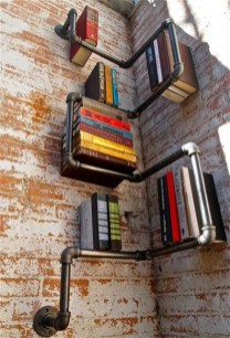 Ideas to decorate your corner space with unique corner shelf 34