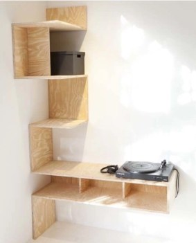 Ideas to decorate your corner space with unique corner shelf 37