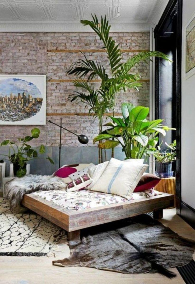 Indoor plant display for bedroom